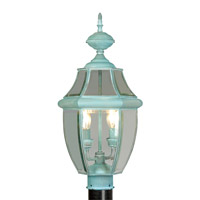 Livex 2254-06 Monterey 2 Light 22 inch Verdigris Outdoor Post Head