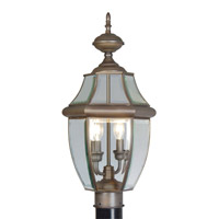 Livex 2254-07 Monterey 2 Light 22 inch Bronze Outdoor Post Top Lantern