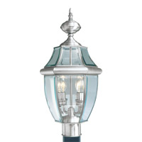 Livex 2254-91 Monterey 2 Light 22 inch Brushed Nickel Outdoor Post Head