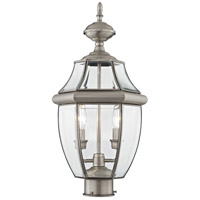 Monterey 2 Light 22 inch Brushed Nickel Outdoor Post Head