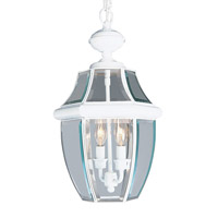 Livex Lighting Monterey 2 Light Outdoor Hanging Lantern in White 2255-03 photo thumbnail