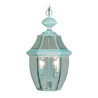Livex Lighting Monterey 2 Light Outdoor Hanging Lantern in Verdigris 2255-06