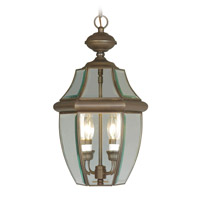 Livex Lighting Monterey 2 Light Outdoor Hanging Lantern in Bronze 2255-07