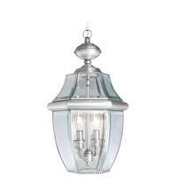 Livex 2255-91 Monterey 2 Light 11 inch Brushed Nickel Outdoor Pendant Lantern