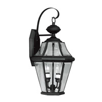 Livex Lighting Georgetown 2 Light Outdoor Wall Lantern in Black 2261-04