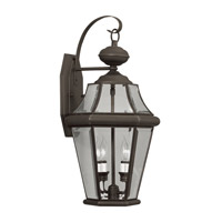 Livex Lighting Georgetown 2 Light Outdoor Wall Lantern in Bronze 2261-07