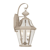 Livex Limited 2 Light Outdoor Wall Lantern in Fossil Stone 2261-15