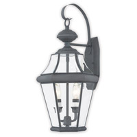 Livex 2261-61 Georgetown 2 Light 21 inch Charcoal Wall Lantern