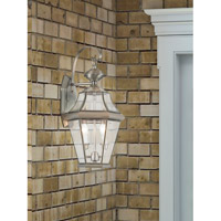 Georgetown 2 Light 21 inch Brushed Nickel Wall Lantern
