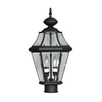 Livex Lighting Georgetown 2 Light Outdoor Post Head in Black 2264-04