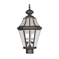 Livex Lighting Georgetown 2 Light Outdoor Post Head in Bronze 2264-07