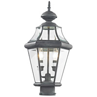 Livex 2264-61 Georgetown 2 Light 21 inch Charcoal Post Lantern