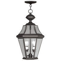 Livex Lighting Georgetown 2 Light Outdoor Hanging Lantern in Bronze 2265-07