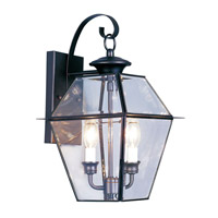 Livex Lighting Westover 2 Light Outdoor Wall Lantern in Black 2281-04
