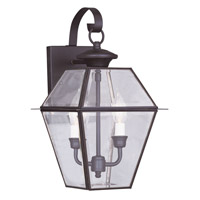 Westover 2 Light 17 inch Bronze Outdoor Wall Lantern