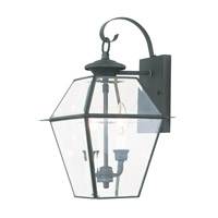 Livex 2281-61 Westover 2 Light 17 inch Charcoal Wall Lantern