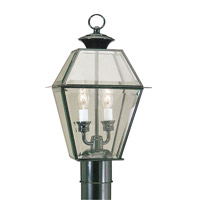 Livex 2284-04 Westover 2 Light 17 inch Black Outdoor Post Head