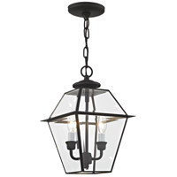 Westover 2 Light 9 inch Black Outdoor Hanging Lantern