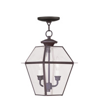 Livex 2285-07 Westover 2 Light 9 inch Bronze Outdoor Hanging Lantern