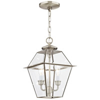 Westover 2 Light 9 inch Brushed Nickel Outdoor Lantern