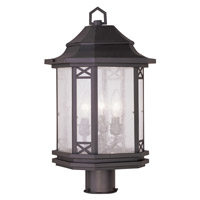 Livex Lighting Tahoe 3 Light Outdoor Post Head in Bronze 2314-07