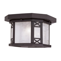 Livex Lighting Tahoe 2 Light Outdoor Ceiling Mount in Bronze 2319-07