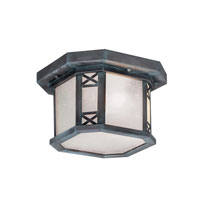 Livex Lighting Tahoe 2 Light Outdoor Ceiling Mount in Charcoal 2319-61