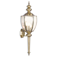 Limited 3 Light 32 inch Antique Brass Outdoor Wall Light