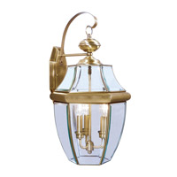 Livex Lighting Monterey 3 Light Outdoor Wall Lantern in Antique Brass 2351-01