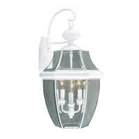 Livex Lighting Monterey 3 Light Outdoor Wall Lantern in White 2351-03
