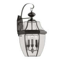 Livex Lighting Monterey 3 Light Outdoor Wall Lantern in Black 2351-04