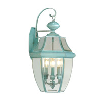 Livex Lighting Monterey 3 Light Outdoor Wall Lantern in Verdigris 2351-06