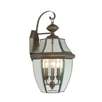 Livex Lighting Monterey 3 Light Outdoor Wall Lantern in Bronze 2351-07
