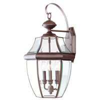 Livex Lighting Monterey 3 Light Outdoor Wall Lantern in Imperial Bronze 2351-58