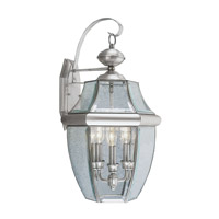 Livex Lighting Monterey 3 Light Outdoor Wall Lantern in Brushed Nickel 2351-91