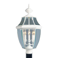Livex 2354-03 Monterey 3 Light 24 inch White Outdoor Post Head