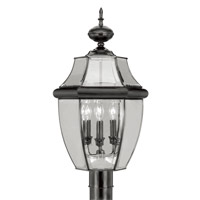 Livex Lighting Monterey 3 Light Outdoor Post Head in Black 2354-04
