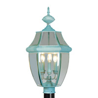 Livex Lighting Monterey 3 Light Outdoor Post Head in Verdigris 2354-06
