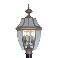 Livex Lighting Monterey 3 Light Outdoor Post Head in Bronze 2354-07