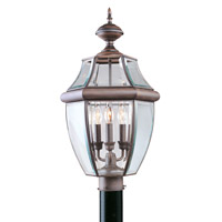 Livex Lighting Monterey 3 Light Outdoor Post Head in Imperial Bronze 2354-58
