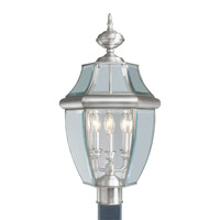 Livex Lighting Monterey 3 Light Outdoor Post Head in Brushed Nickel 2354-91