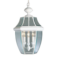 Monterey 3 Light 13 inch White Outdoor Hanging Lantern