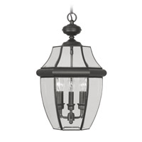 Livex Lighting Monterey 3 Light Outdoor Hanging Lantern in Black 2355-04