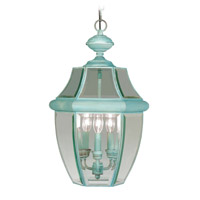 Livex Lighting Monterey 3 Light Outdoor Hanging Lantern in Verdigris 2355-06