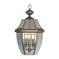 Livex Lighting Monterey 3 Light Outdoor Hanging Lantern in Bronze 2355-07