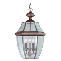 Livex Lighting Monterey 3 Light Outdoor Hanging Lantern in Imperial Bronze 2355-58