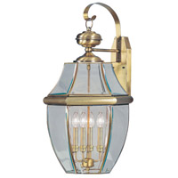 Livex Lighting Monterey 4 Light Outdoor Wall Lantern in Antique Brass 2356-01