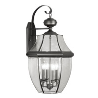 Livex Lighting Monterey 4 Light Outdoor Wall Lantern in Black 2356-04