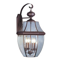 Livex Lighting Monterey 4 Light Outdoor Wall Lantern in Bronze 2356-07