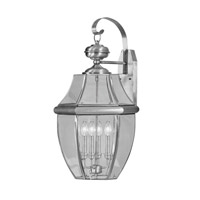 Livex Lighting Monterey 4 Light Outdoor Wall Lantern in Brushed Nickel 2356-91